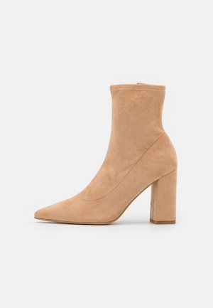 BLOCK BOOTS - Classic ankle boots - beige