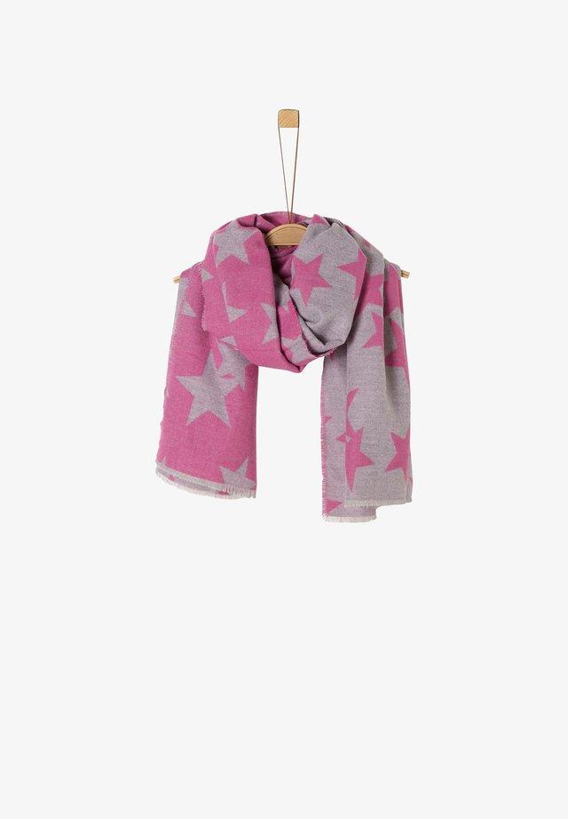 MIT STERNEN-MOTIV - Schal - grey melange/pink