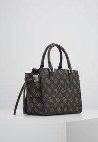 Guess - DIGITAL STATUS SATCHEL - Handbag - brown - 4
