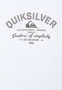 Quiksilver - SCREEN TEE - Printtipaita - white - 2