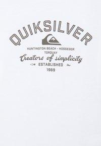 Quiksilver - SCREEN TEE - Print T-shirt - white - 2