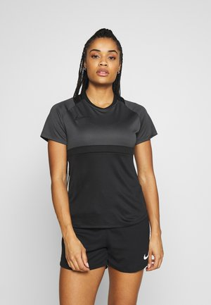 DRY - T-shirt z nadrukiem - black/anthracite