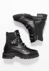 Mexx - DESNEY - Cowboy/biker ankle boot - black - 3
