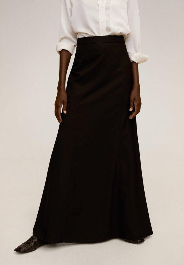 TINTO-A - Maxi skirt - schwarz