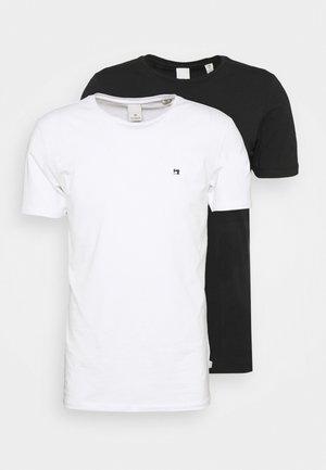 LOGO TEE 2 PACK - Basic T-shirt - black/white