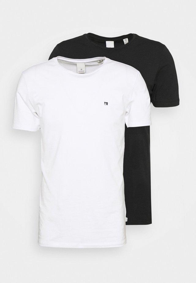 LOGO TEE 2 PACK - T-Shirt basic - black/white