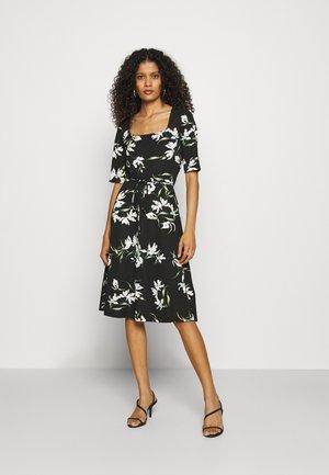PORTRAIT NECK - Jersey dress - black