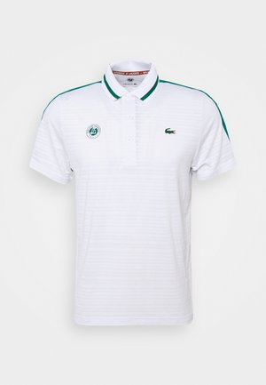 TENNIS  - Piké - white/bottle green/navy blue