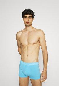 Calvin Klein Underwear - STRETCH LOW RISE TRUNK 3 PACK - Pants - blue - 3