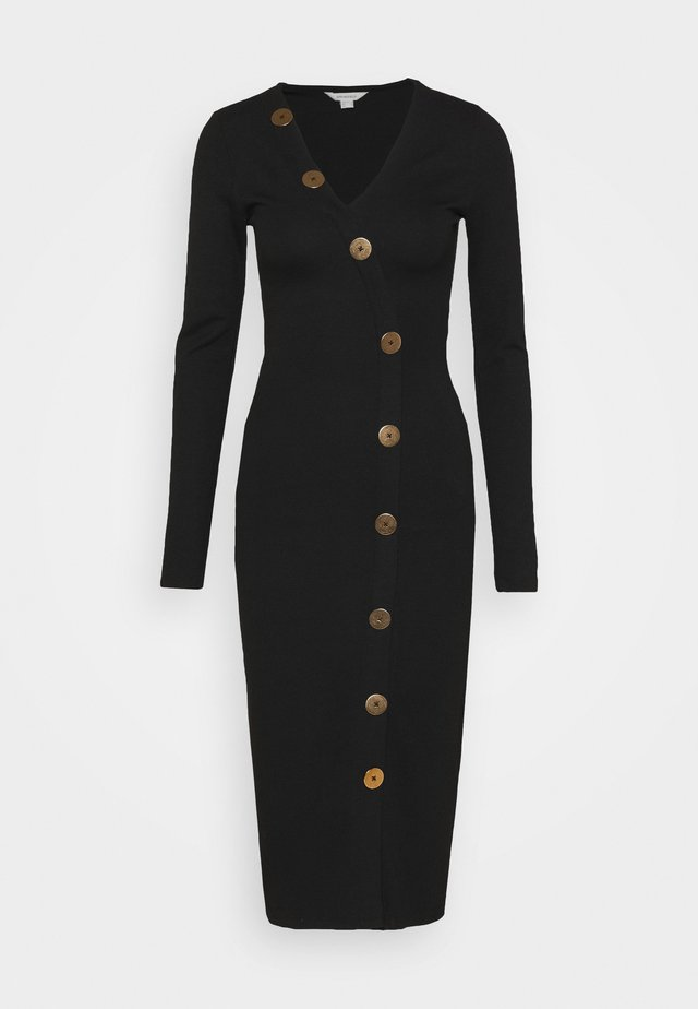 ROMA BOTONE - Shift dress - black