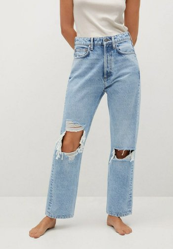 SELINA - Straight leg jeans - middenblauw