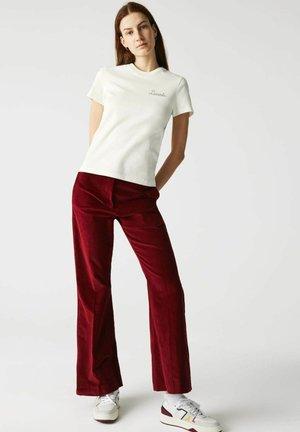Print T-shirt - blanc / vert
