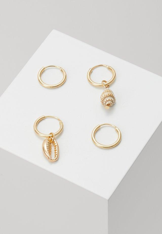 SHELL 2 PACK - Boucles d'oreilles - gold-coloured