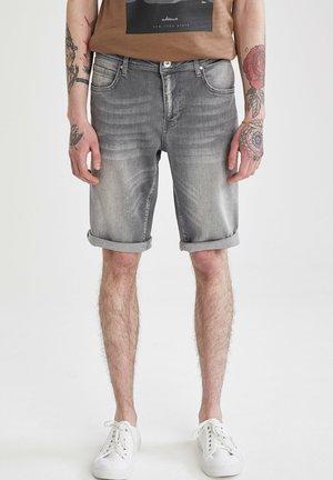 SLIM FIT  - Denim shorts - grey