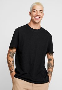 AllSaints - MATEO  CREW - Basic T-shirt - black - 0