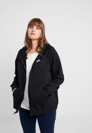 HOODY PLUS - Mikina na zip - black/white