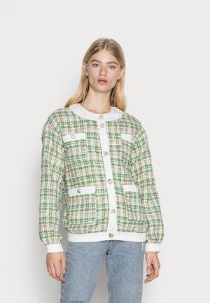 JACKET - Summer jacket - green/white