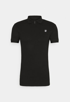 INSET CUFF STRETCH - Poloshirt - black