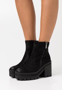 mtng - NEW MILA - High heeled ankle boots - black - 0
