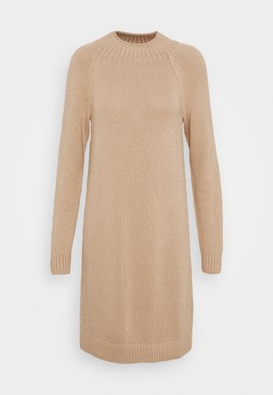 FUNNEL NECK - Jumper dress - camel