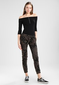 Urban Classics - LADIES CAMO PANTS - Trousers - grey - 1
