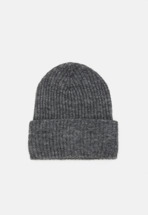 PCBANA HOOD - Beanie - medium grey melange