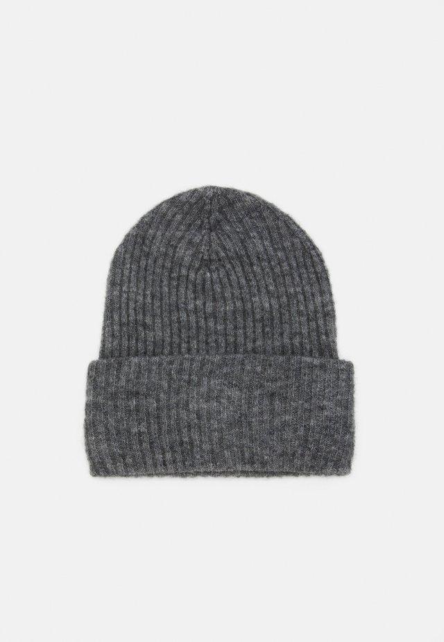 PCBANA HOOD - Mütze - medium grey melange