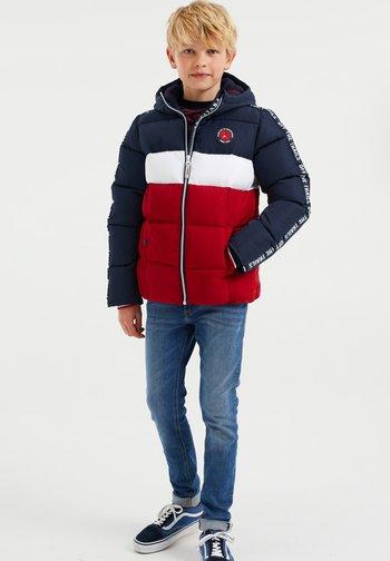 JONGENS - Winter jacket - dark blue/red