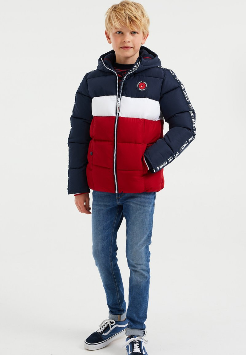 WE Fashion - JONGENS - Chaqueta de invierno - dark blue/red