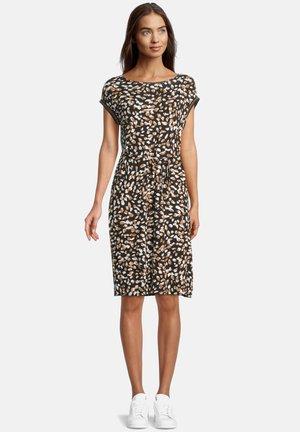 Jersey dress - schwarz/braun