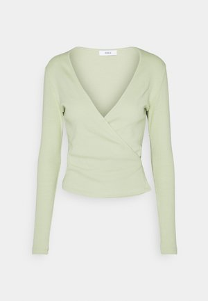 ENALLY TEE - Long sleeved top - faded green