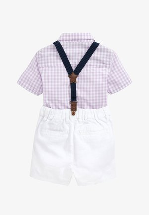 LILAC SHIRT & SHORTS SET (3MTHS-7YRS) - Cinturón - purple