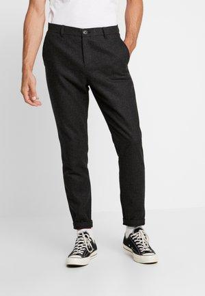 JANZIK PANTS - Trousers - dark grey melange