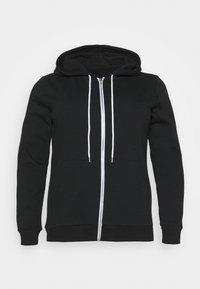 Even&Odd Curvy - Zip-up hoodie - black - 4