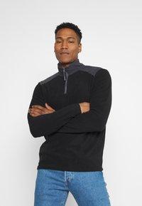 Brave Soul - THERMAL - Fleece jumper - black/slate grey - 0