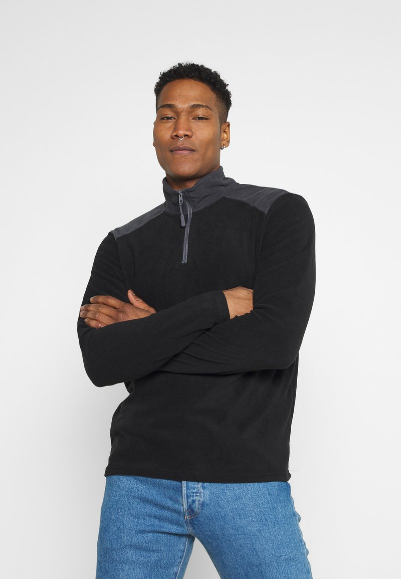 Brave Soul - THERMAL - Fleece jumper - black/slate grey
