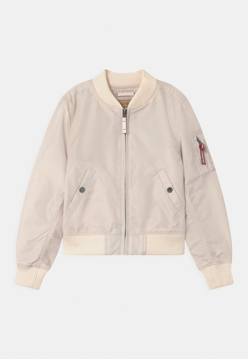 Alpha Industries - Bomber bunda - jet stream white