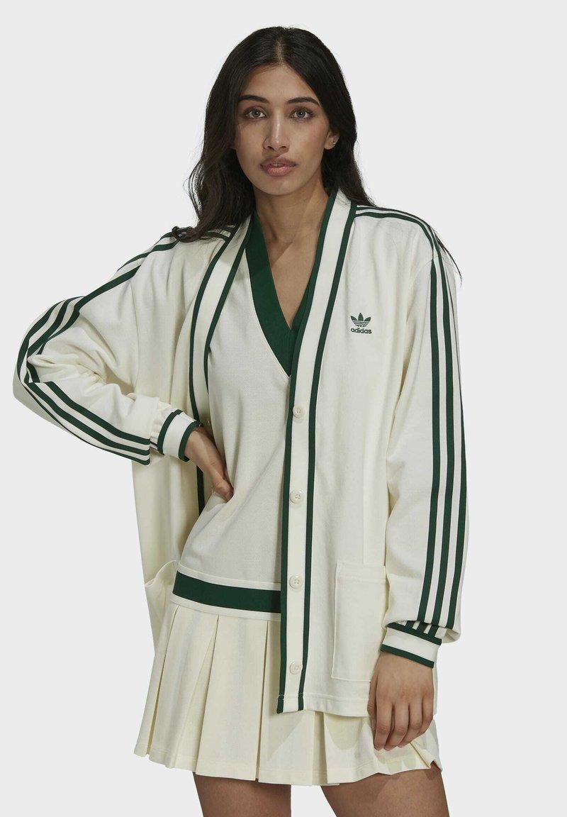 adidas Originals - TENNIS LUXE CARDIGAN ORIGINALS - Chaqueta de punto - off white