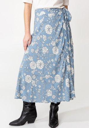 HAITI - Wrap skirt - blue
