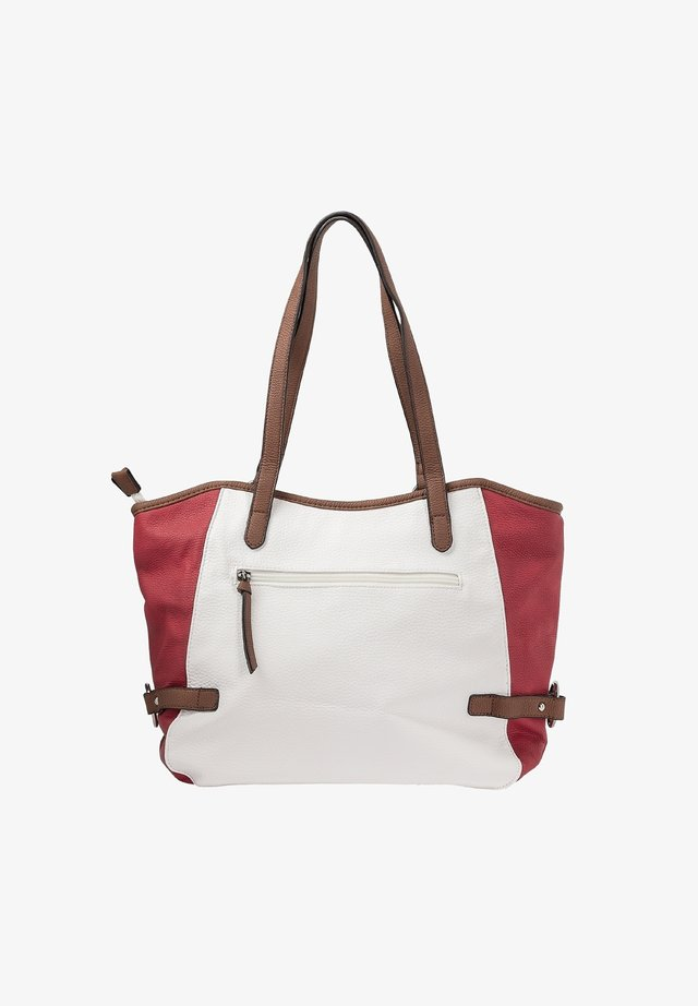 Handtas - bianco-red-pacific-brown