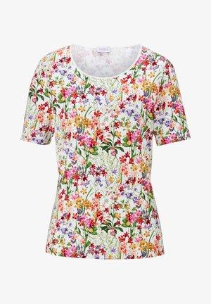Print T-shirt - weiß,rot,grün