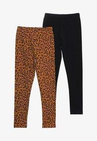 Friboo - 2 PACK - Leggings - Trousers - sudan brown/anthracite - 3