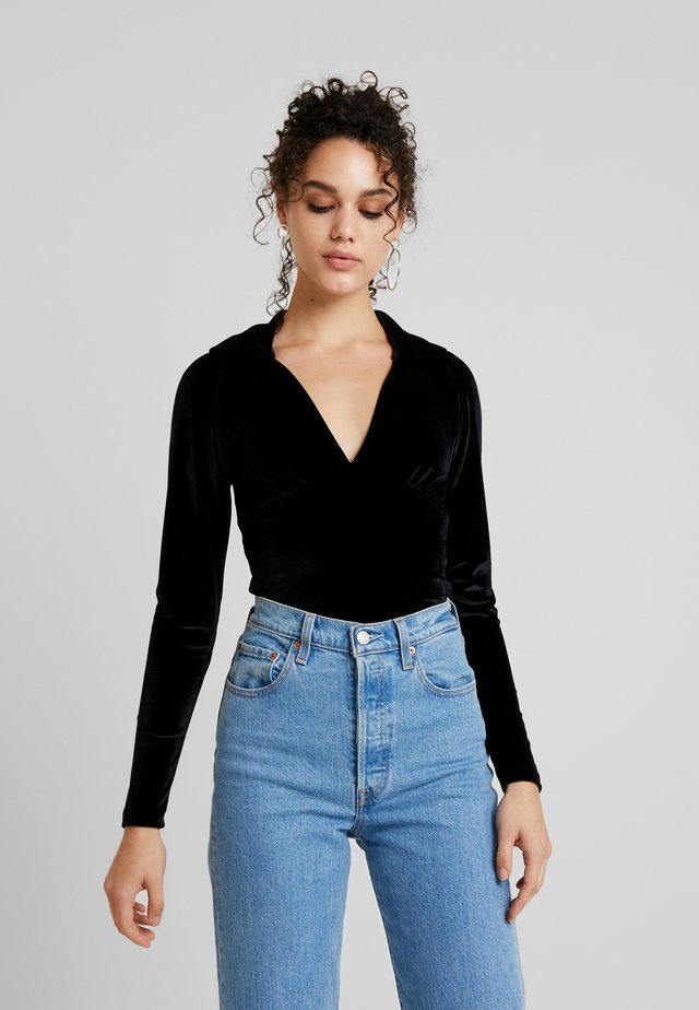 SIMMA - Long sleeved top - black