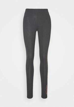 ONPJOLIVIA LIFE - Leggings - Trousers - dark grey melange/white/coral