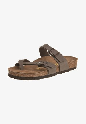 MAYARI - T-bar sandals - mocca