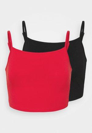 VILALI FESTIVAL CROPPED 2 PACK - Top - black/ highrisk red