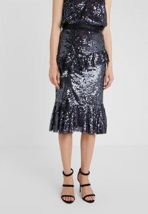SCARLETT SEQUIN MIDAXI SKIRT - Pouzdrová sukně - graphite