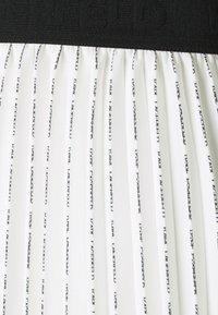 KARL LAGERFELD - PLEATED SKIRT LOGO - Pleated skirt - white - 5
