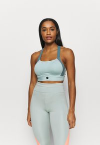 Under Armour - RUSH - Sports bra - enamel blue - 0