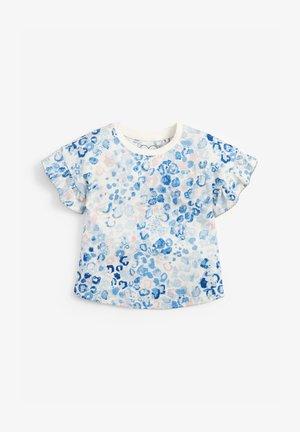 Print T-shirt - blue/white